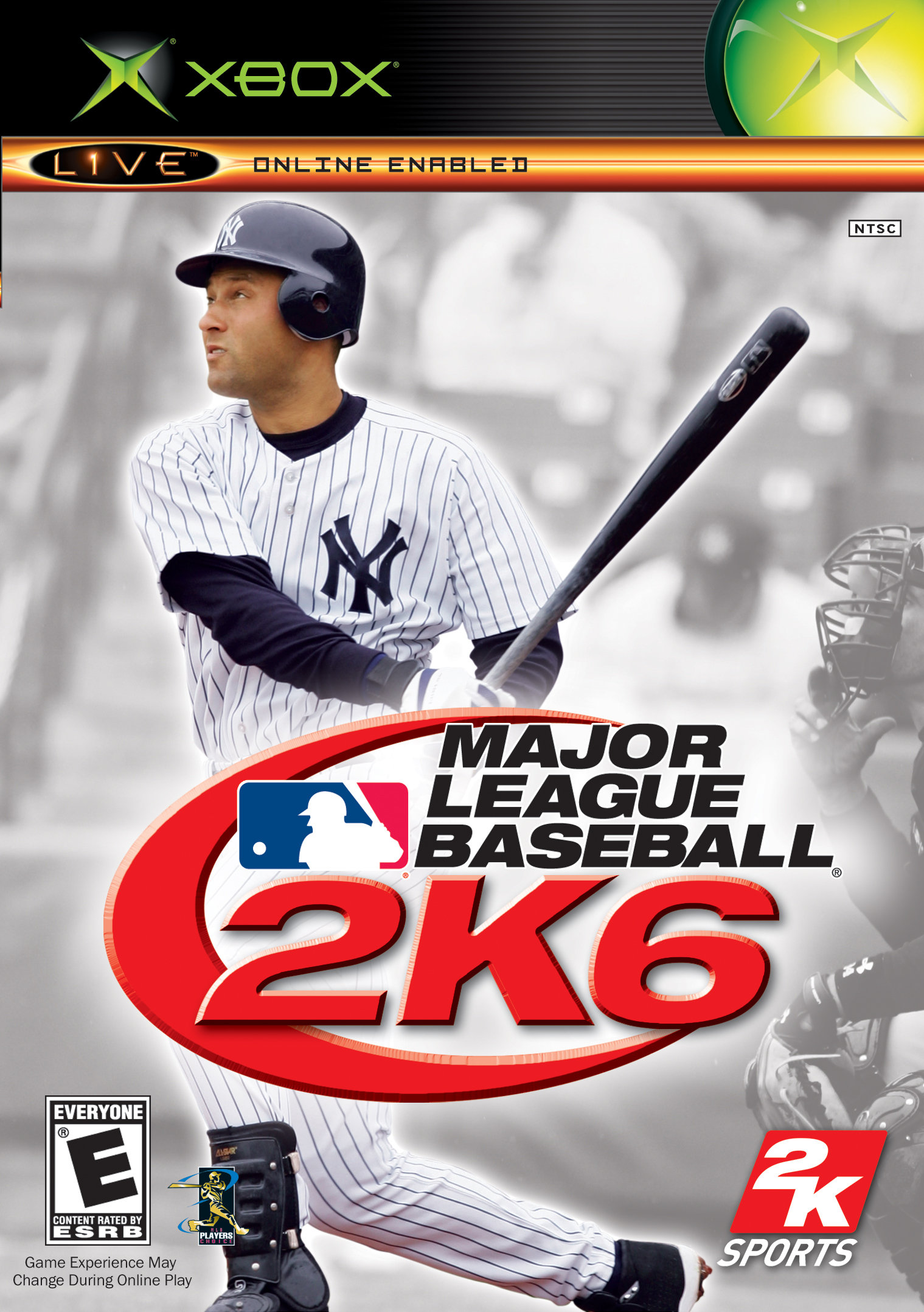 Front boxart of the game Major League Baseball 2K6 (United States) on Microsoft Xbox