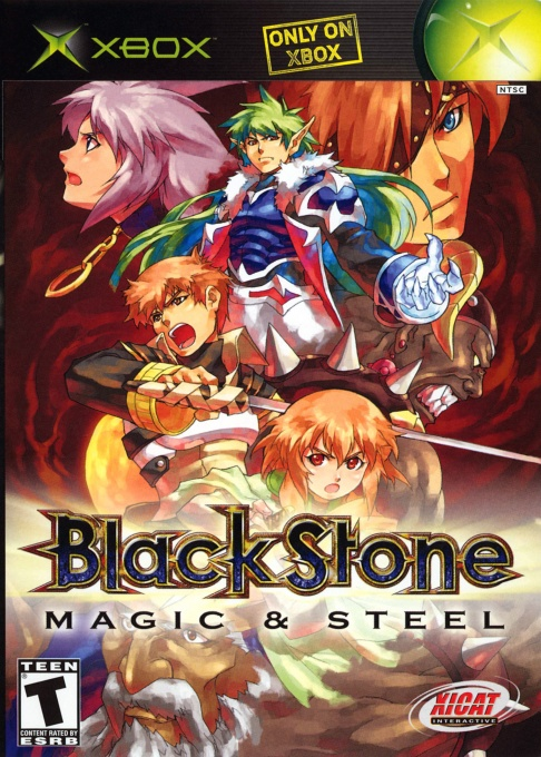 Front boxart of the game Black Stone - Magic & Steel (United States) on Microsoft Xbox