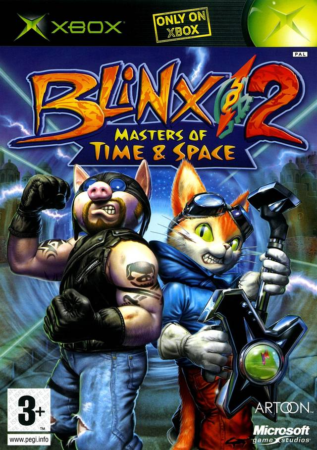 Front boxart of the game Blinx 2 - Battle of Time and Space (Europe) on Microsoft Xbox