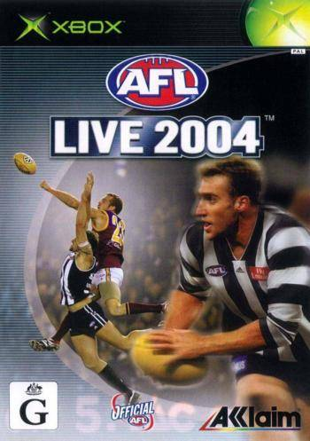 Front boxart of the game AFL Live 2004 (Australia) on Microsoft Xbox