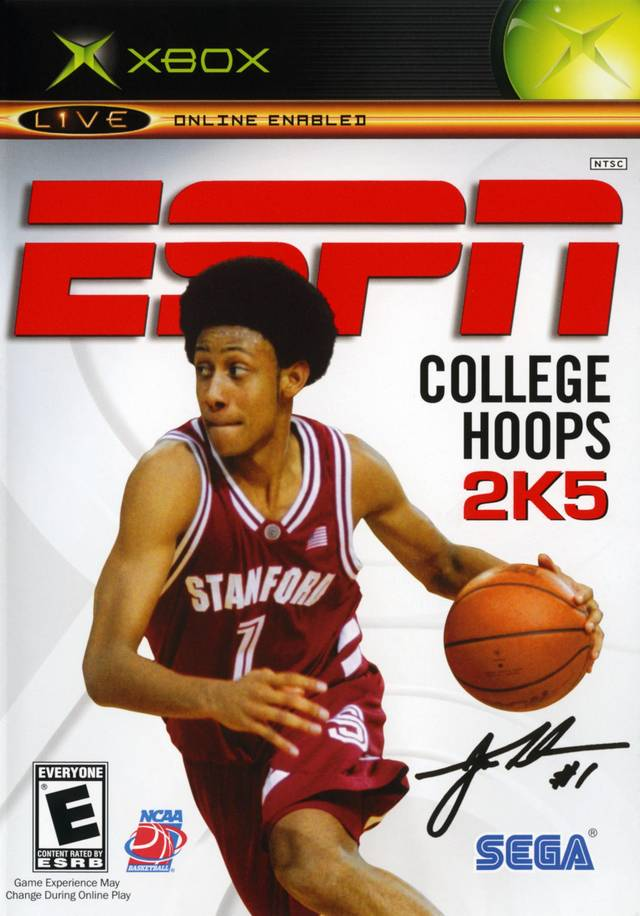 Front boxart of the game ESPN College Hoops 2K5 (United States) on Microsoft Xbox