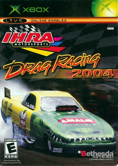 Front boxart of the game IHRA Drag Racing 2004 (United States) on Microsoft Xbox