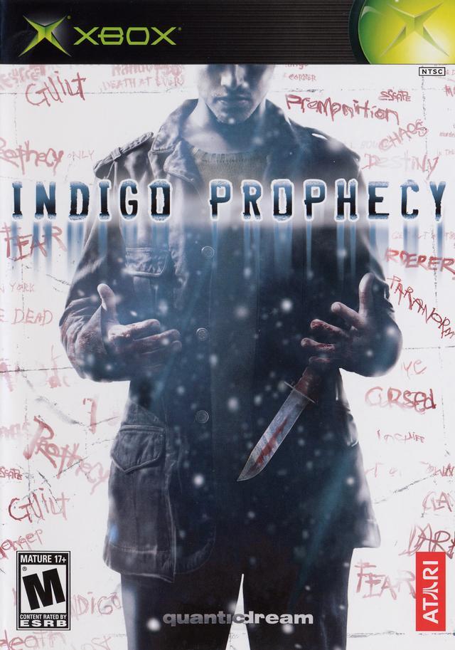 Front boxart of the game Indigo Prophecy (United States) on Microsoft Xbox
