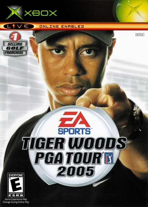 Front boxart of the game Tiger Woods PGA Tour 2005 (United States) on Microsoft Xbox