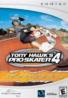 Front boxart of the game Tony Hawk's Pro Skater 4 on Tapwave Zodiac