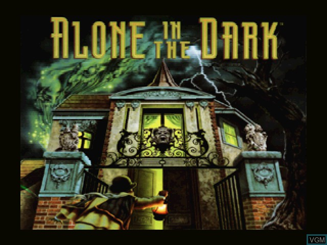 Title screen of the game Alone in the Dark on 3DO