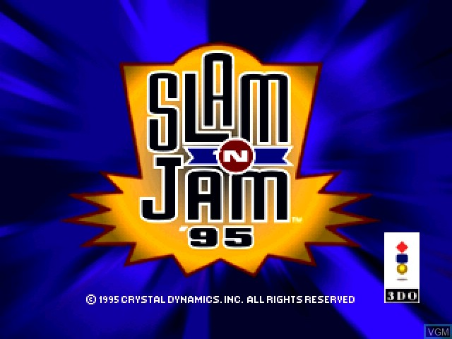 Title screen of the game Slam 'N Jam '95 on 3DO