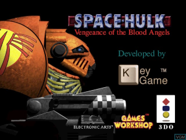 Title screen of the game Space Hulk - Vengeance of the Blood Angels on 3DO