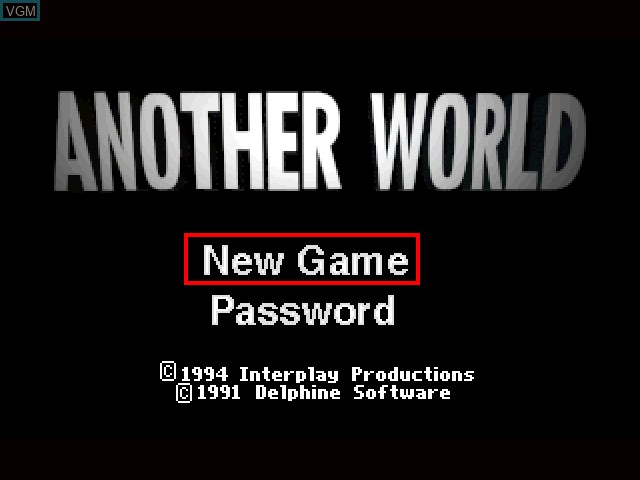 Title screen of the game Another World on 3DO