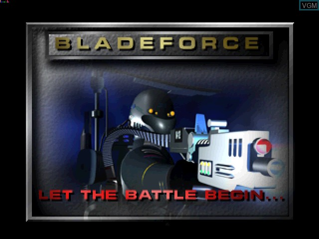 Title screen of the game BladeForce on 3DO