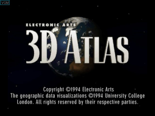 Title screen of the game 3D Atlas on 3DO