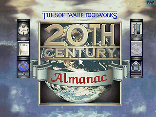 Title screen of the game 20th Century Video Almanac on 3DO