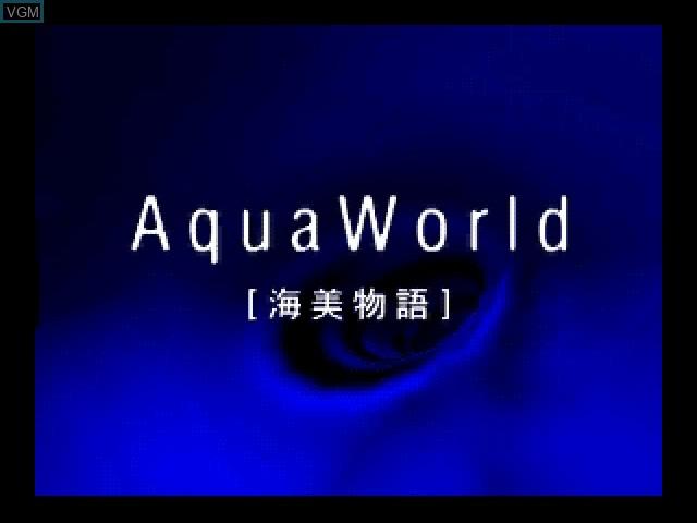 Title screen of the game Aqua World - Umibi Monogatari on 3DO