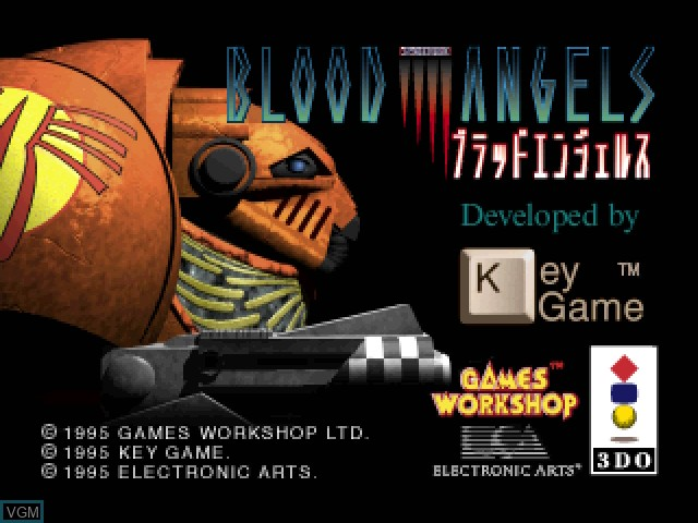 Title screen of the game Blood Angels - Space Hulk on 3DO