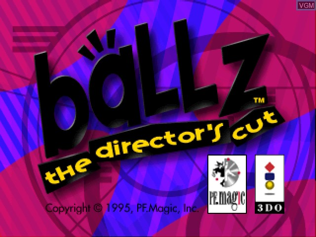 Title screen of the game Ballz - The Director's Cut on 3DO