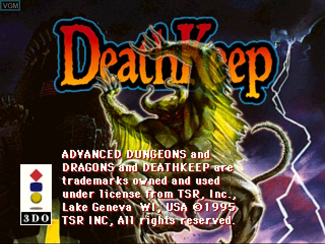 Title screen of the game DeathKeep on 3DO