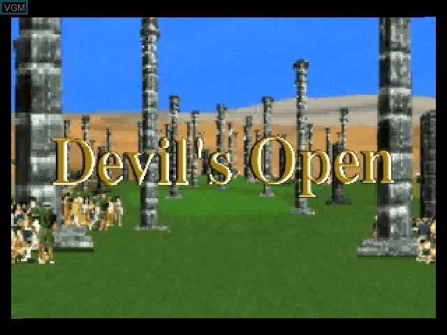 Title screen of the game Devil's Course on 3DO