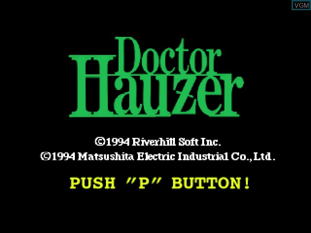 Title screen of the game Doctor Hauzer on 3DO