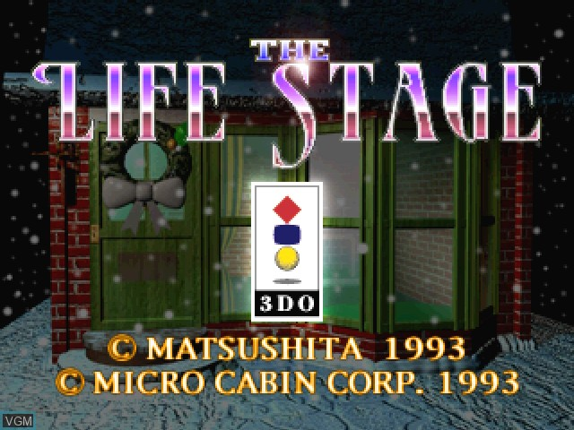 Title screen of the game Life Stage, The - Virtual House on 3DO