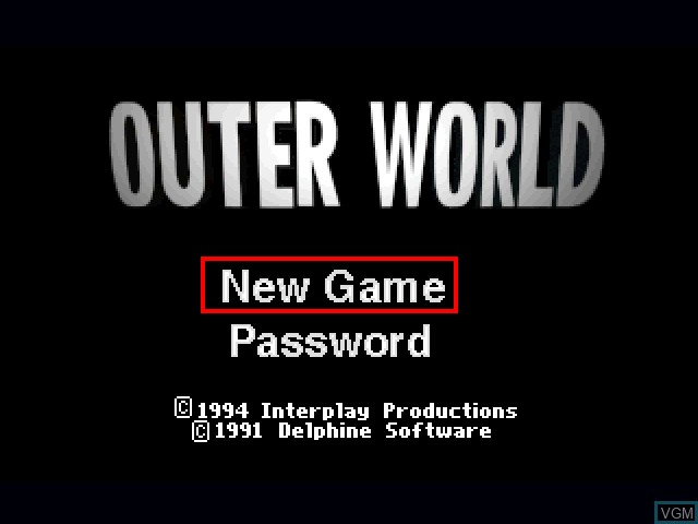 Title screen of the game Outer World on 3DO