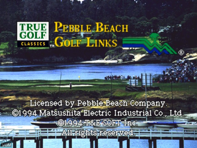 Title screen of the game Pebble Beach Golf Links on 3DO
