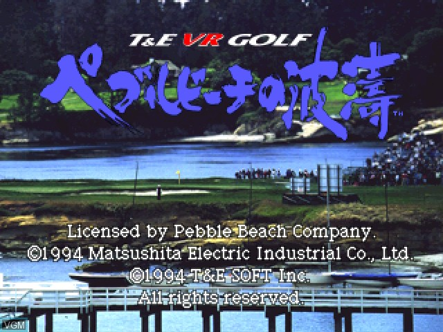 Title screen of the game Pebble Beach no Hatou on 3DO