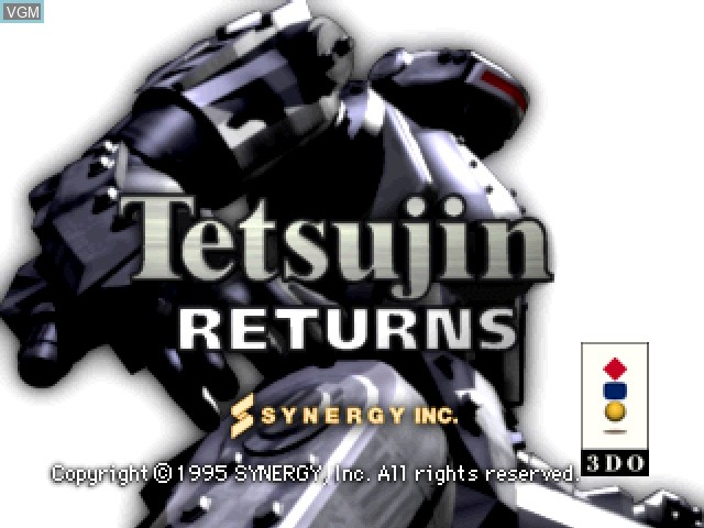 Title screen of the game Tetsujin Returns on 3DO