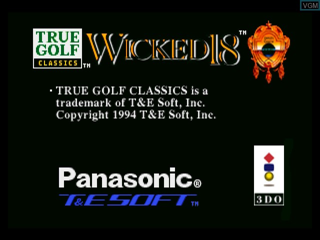 Title screen of the game Wicked 18 on 3DO