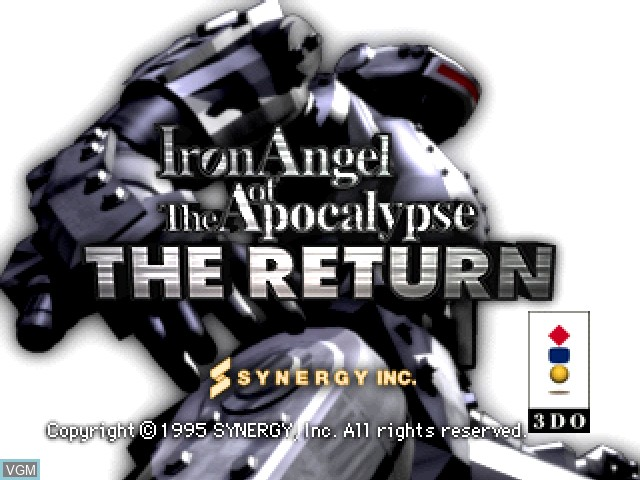 Title screen of the game Iron Angel of the Apocalypse - The Return on 3DO