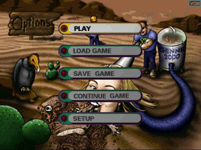 Menu screen of the game Cyberdillo on 3DO