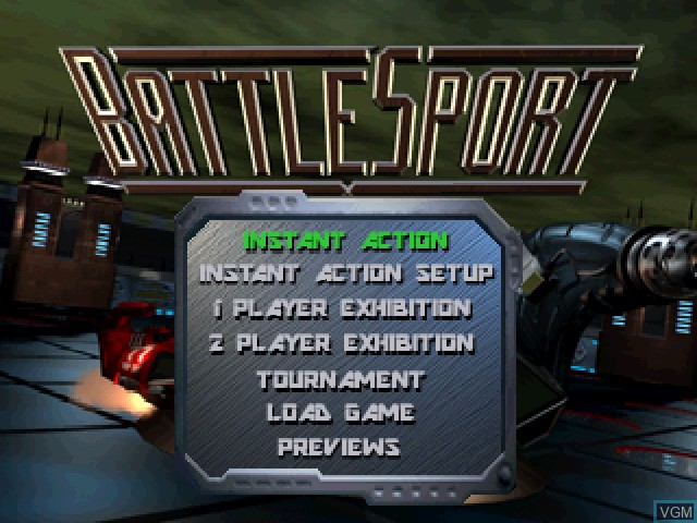Menu screen of the game BattleSport on 3DO