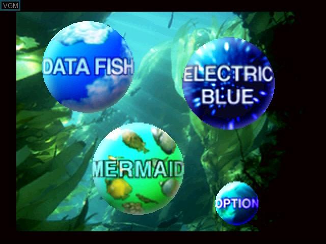 Menu screen of the game Aqua World - Umibi Monogatari on 3DO