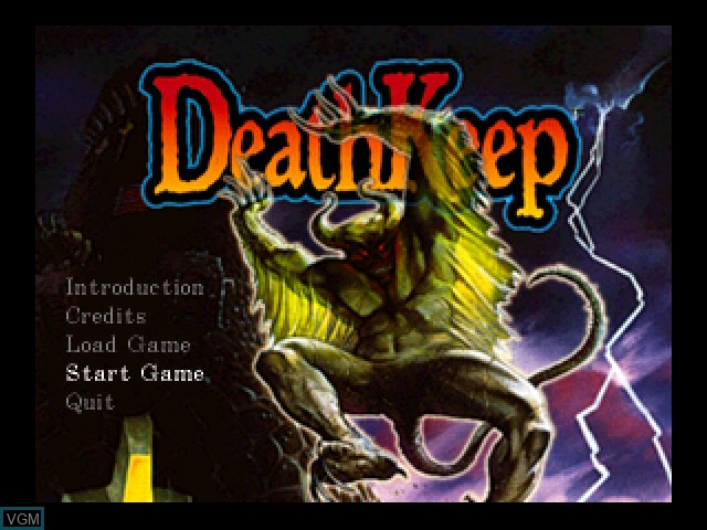 Menu screen of the game DeathKeep on 3DO