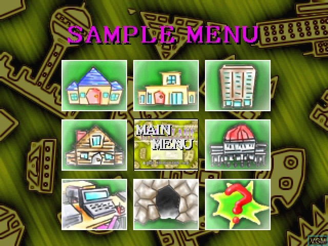 Menu screen of the game Life Stage, The - Virtual House on 3DO