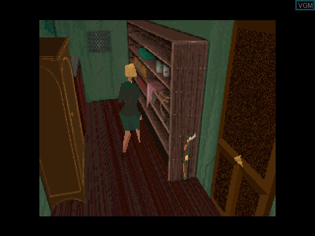 In-game screen of the game Alone in the Dark on 3DO