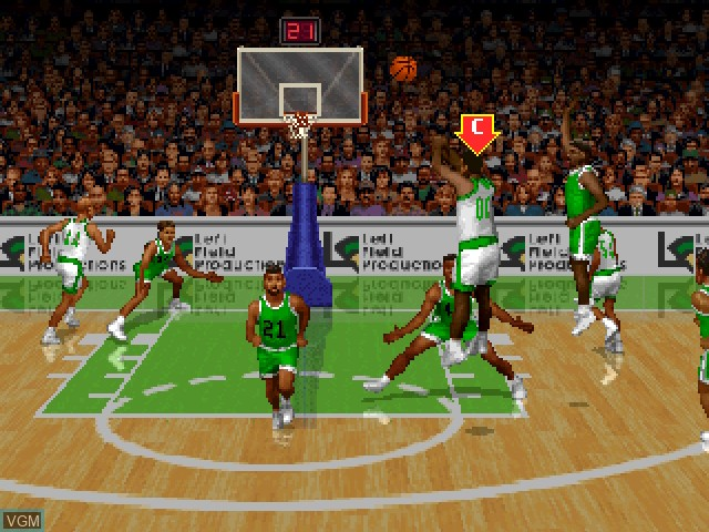 In-game screen of the game Slam 'N Jam '95 on 3DO