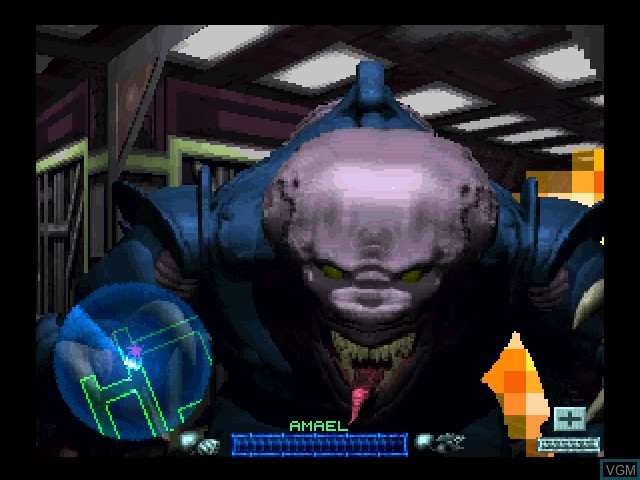 In-game screen of the game Space Hulk - Vengeance of the Blood Angels on 3DO