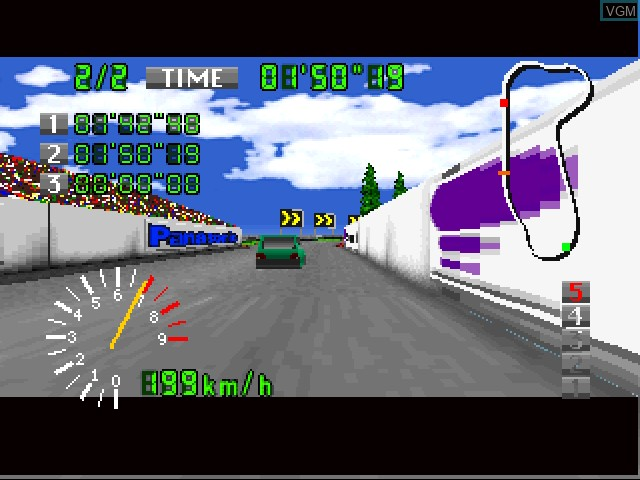 In-game screen of the game AutoBahn Tokio on 3DO