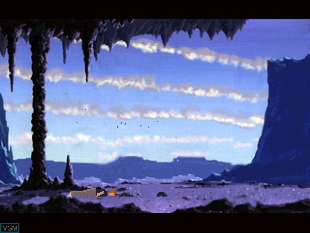 In-game screen of the game Another World on 3DO
