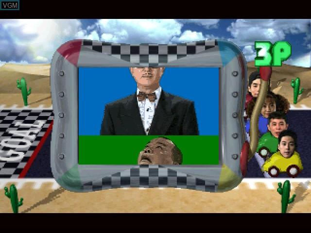 In-game screen of the game Bakushou!! All Yoshimoto Quiz ou Ketteisen on 3DO
