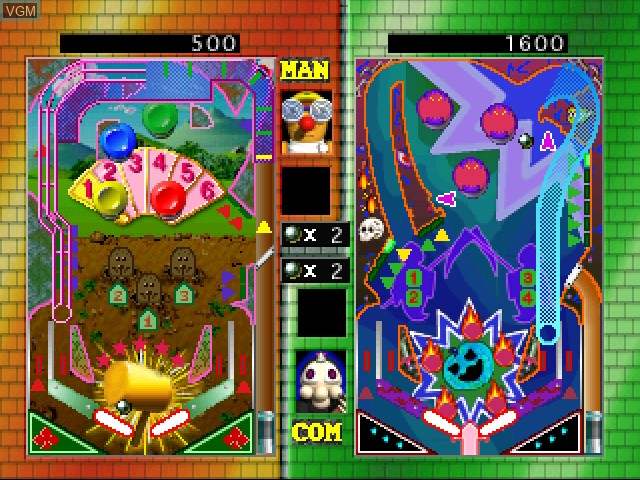 In-game screen of the game Battle Pinball on 3DO