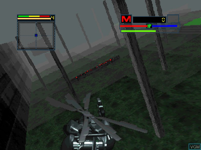In-game screen of the game BladeForce on 3DO