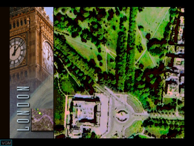 In-game screen of the game 3D Atlas on 3DO
