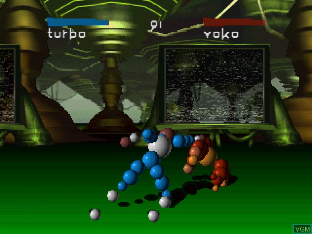 In-game screen of the game Ballz - The Director's Cut on 3DO
