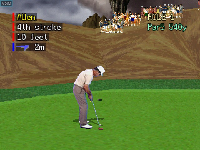 In-game screen of the game Devil's Course on 3DO