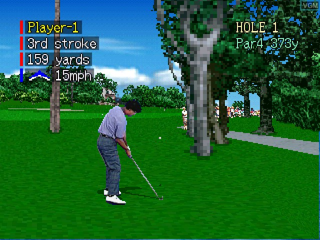 In-game screen of the game Pebble Beach Golf Links on 3DO