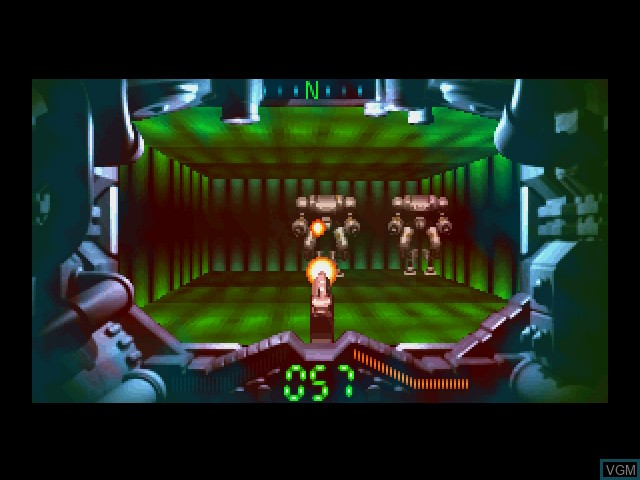 In-game screen of the game Tetsujin Returns on 3DO