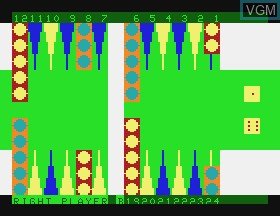 In-game screen of the game Backgammon on APF Electronics Inc. APF-MP1000