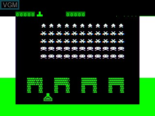 In-game screen of the game Space Destroyers on APF Electronics Inc. APF-MP1000