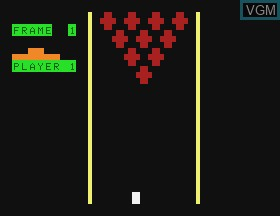 In-game screen of the game Bowling & Micro Match on APF Electronics Inc. APF-MP1000